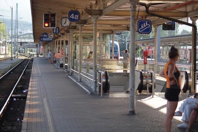 Op het station van Villach