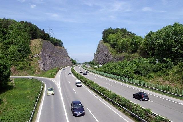 De A14 in Vorarlberg