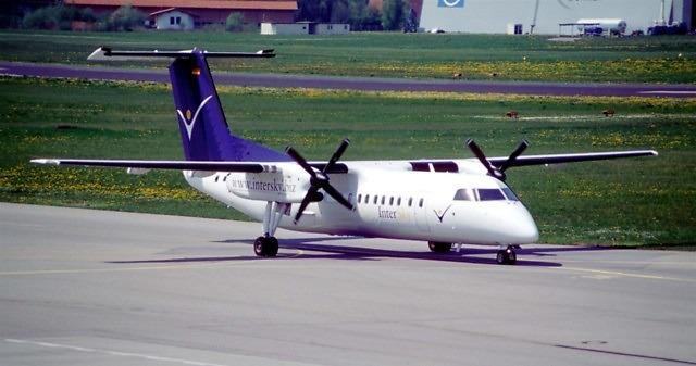 Vliegtuig van InterSky in Friedrichshafen