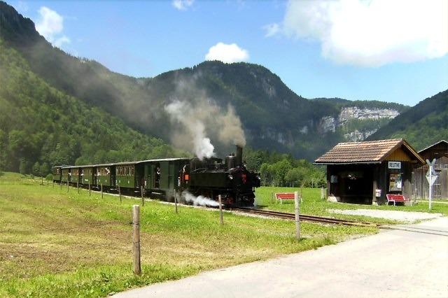 De historische Bregenzerwaldbahn