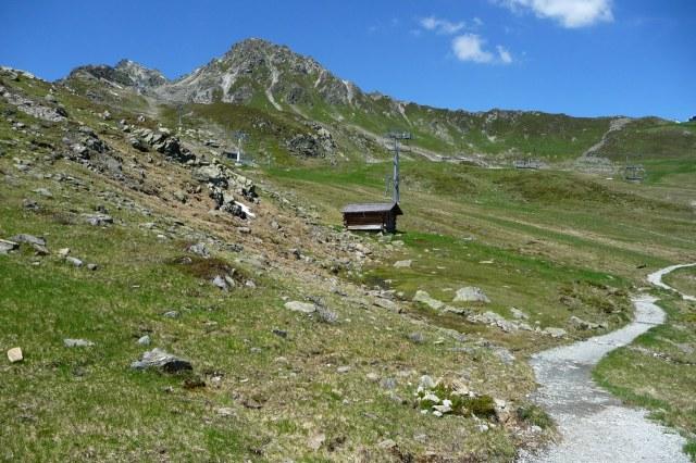 Begin van het pad naar de Riedkopf