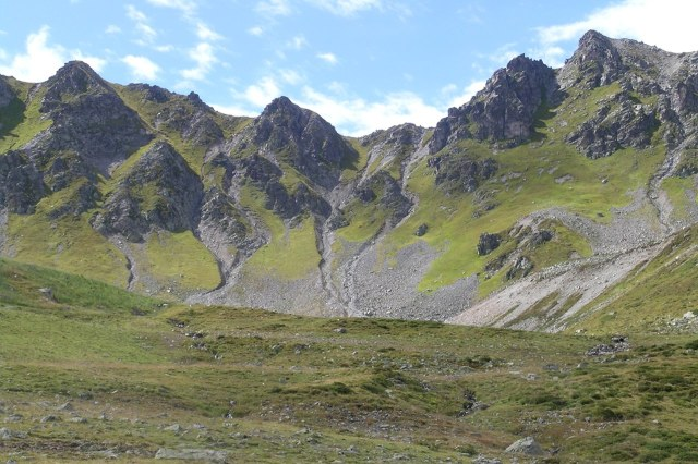 Kale maar spectaculaire bergen