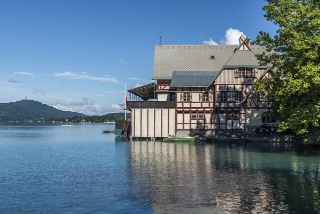 De Wörthersee vanaf Klagenfurt